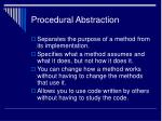 procedural abstraction