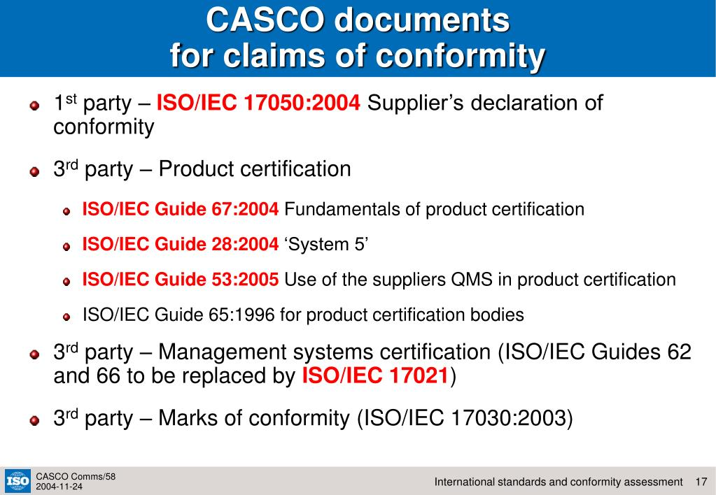 CASCO documents