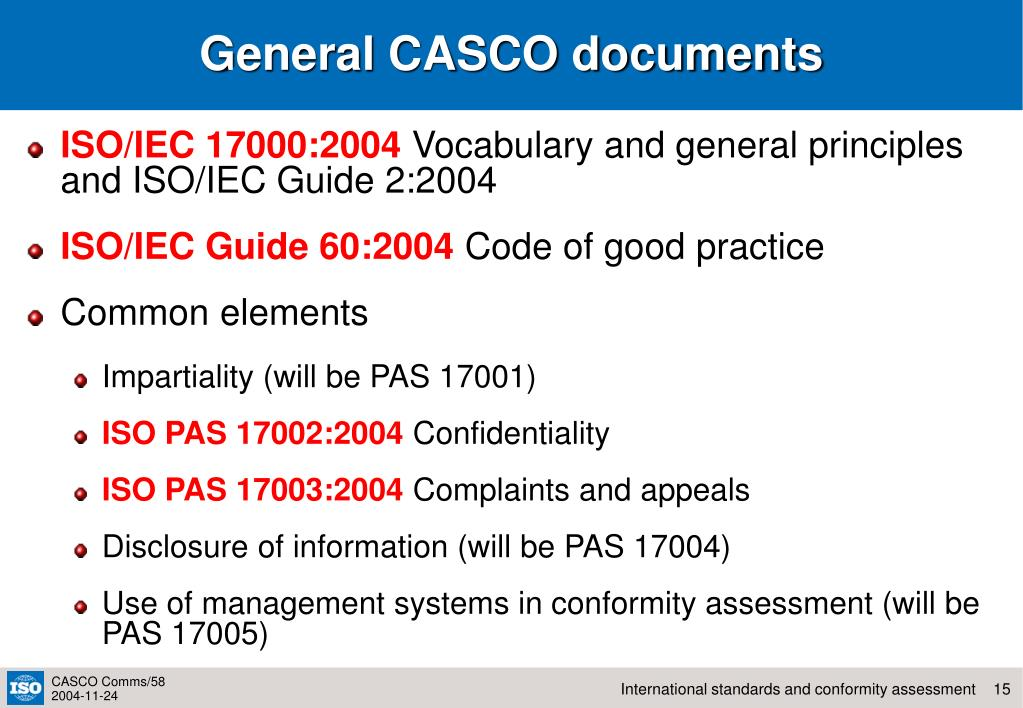 General CASCO documents