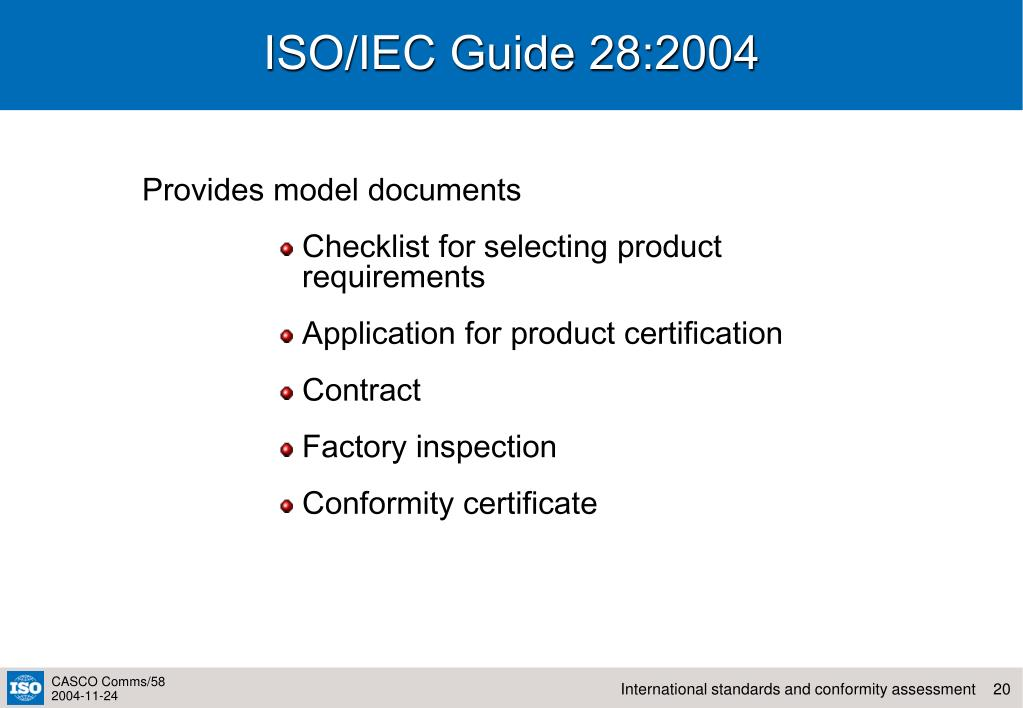 ISO/IEC Guide 28:2004