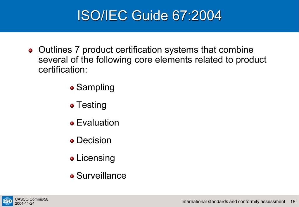 ISO/IEC Guide 67:2004