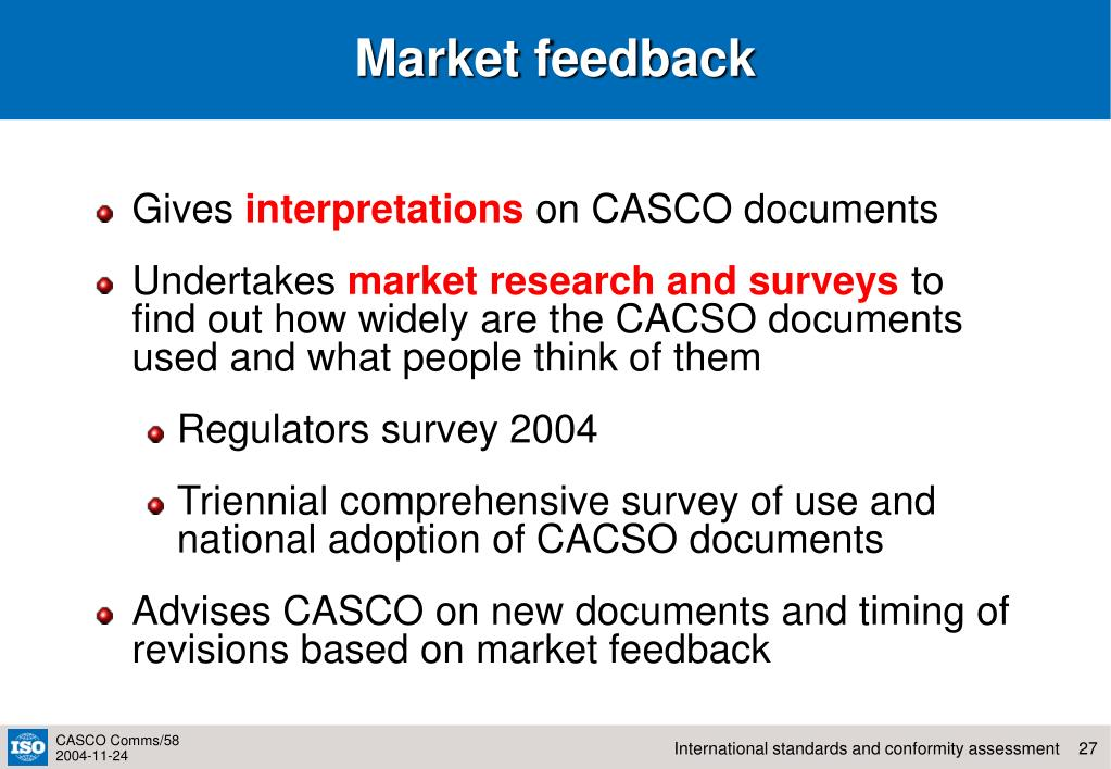 Market feedback