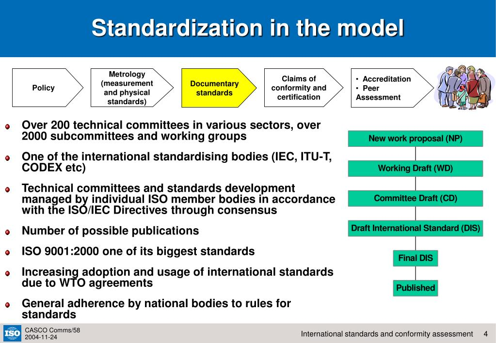 Standardization in the model