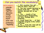 can you match the vocabulary