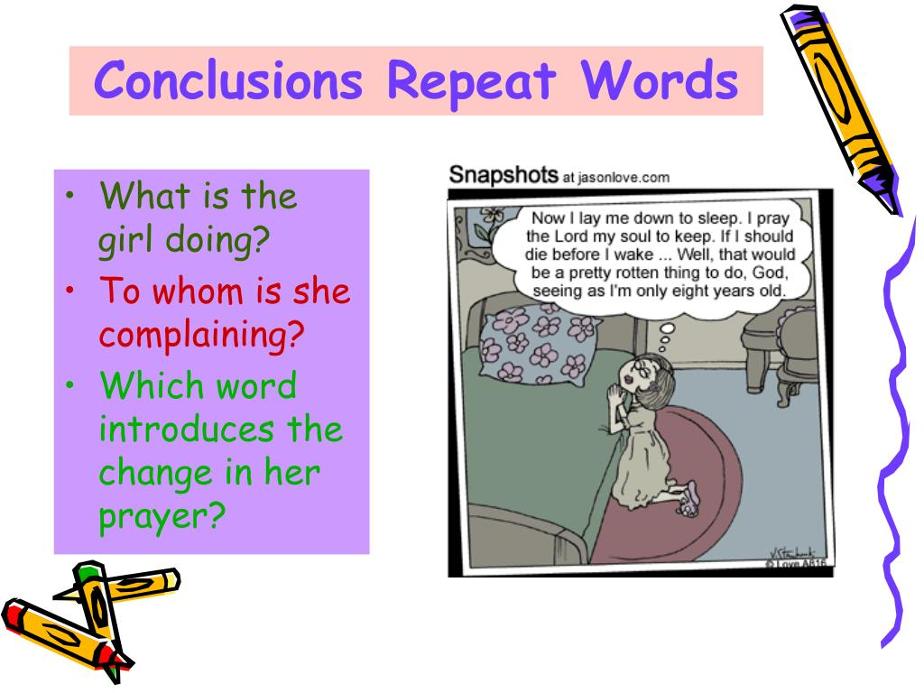 Conclusions Repeat Words