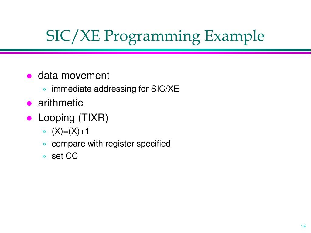 SIC/XE Programming Example