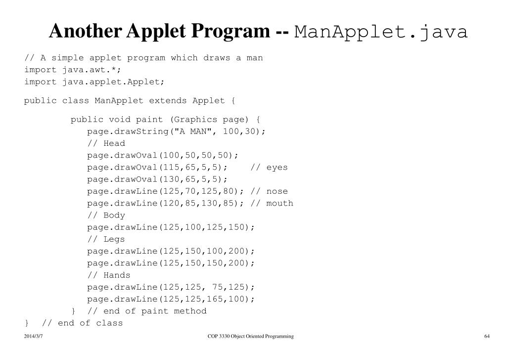 Another Applet Program --
