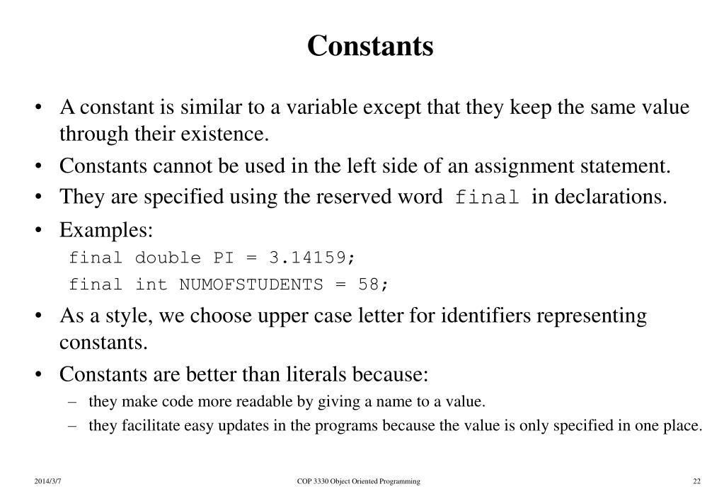 Constants