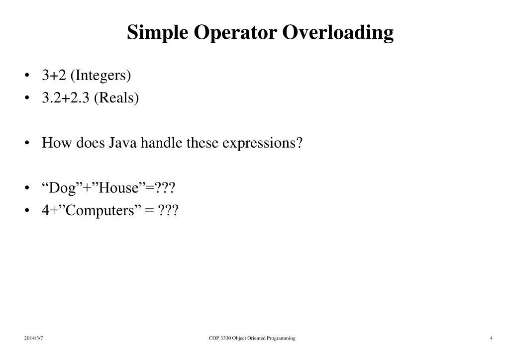Simple Operator Overloading