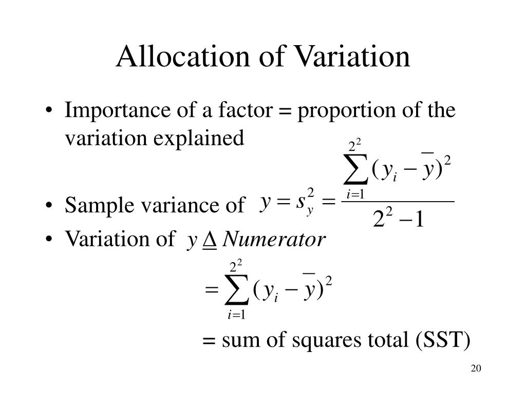 Allocation of Variation