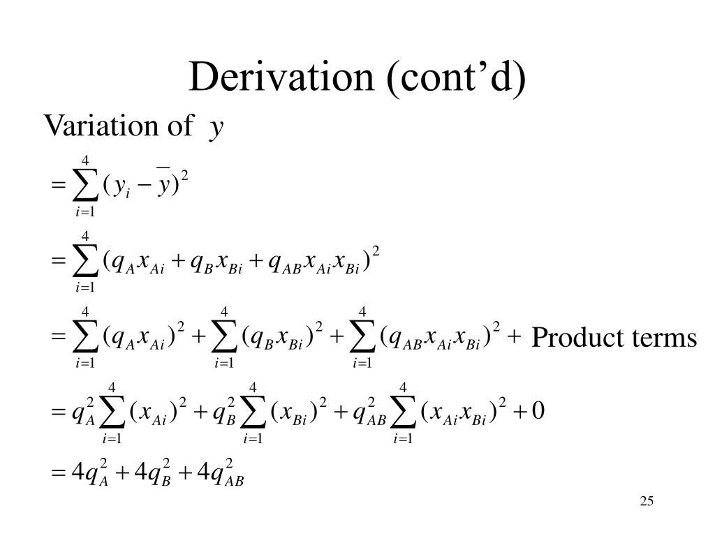 Derivation (cont'd)