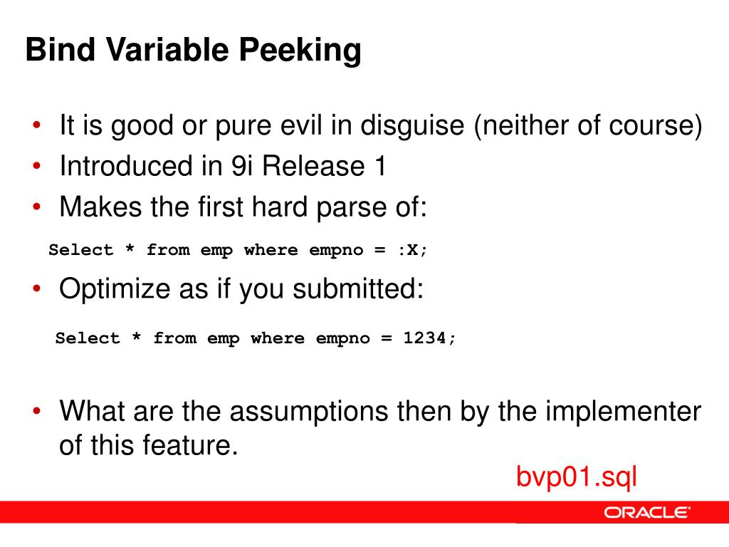 Bind Variable Peeking