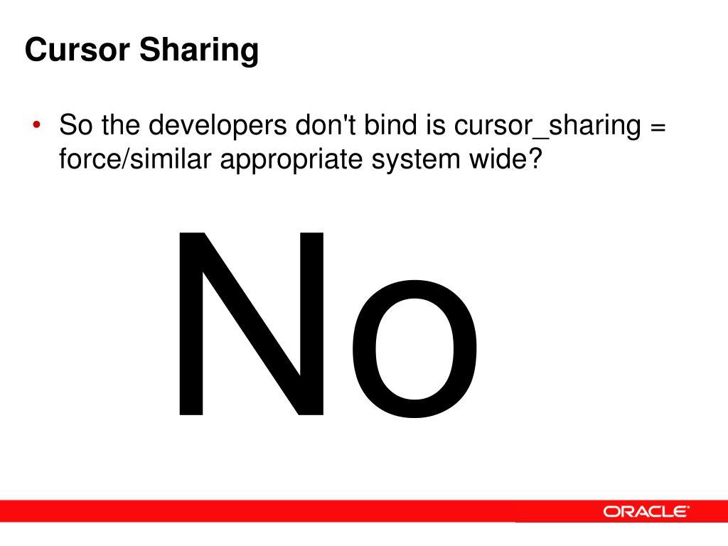Cursor Sharing