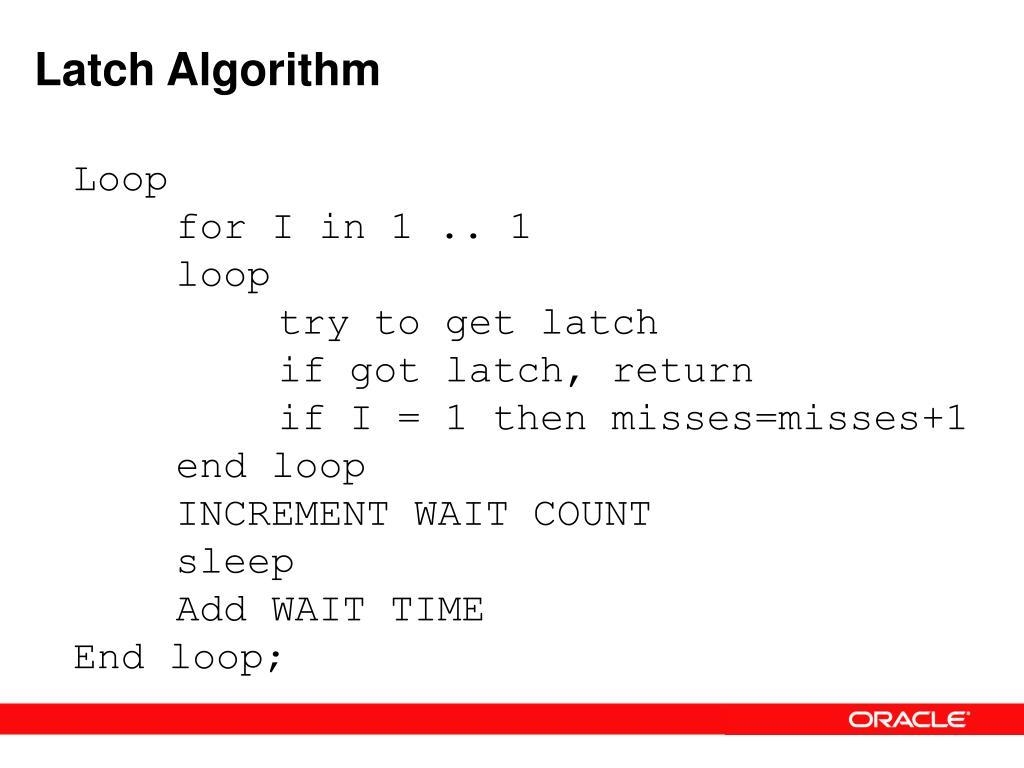 Latch Algorithm