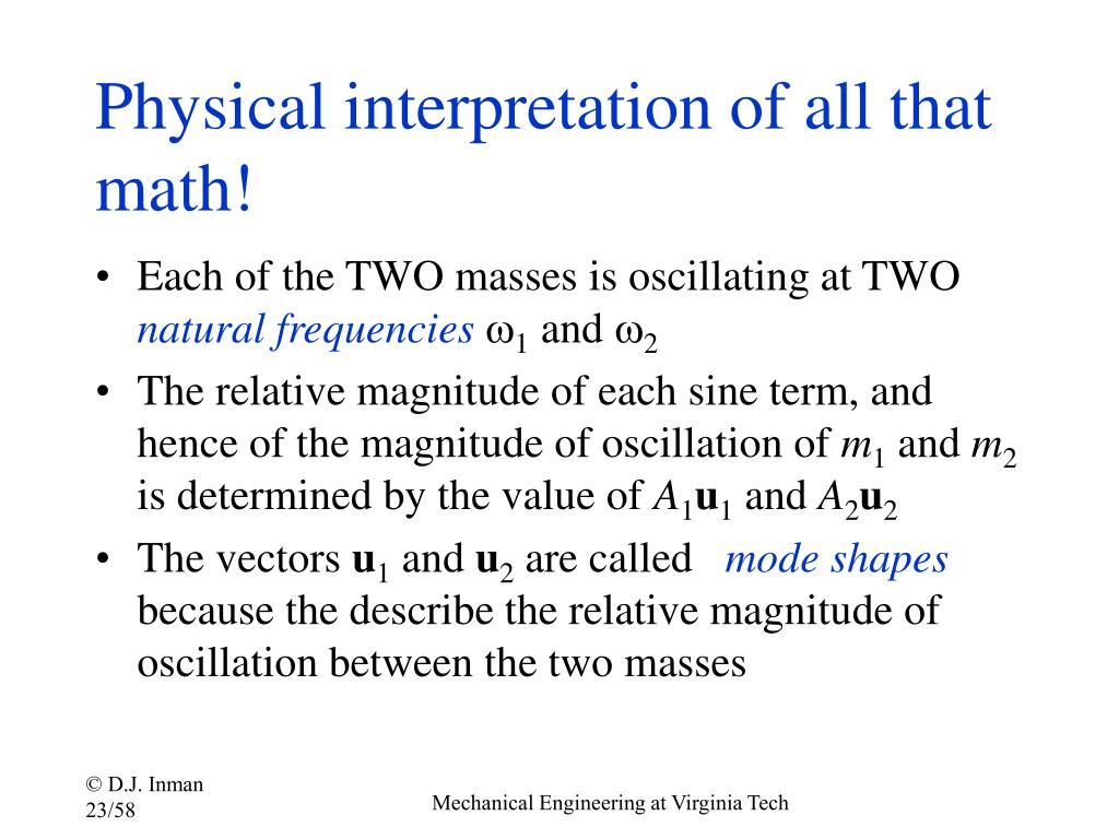 Physical interpretation of all that math!