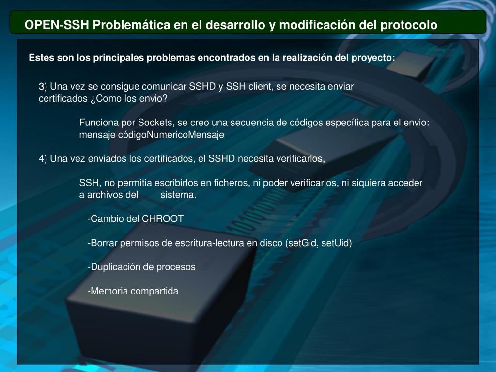 OPEN-SSH Problemática en el desarrollo y modificación del protocolo