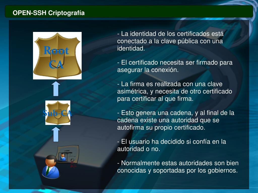OPEN-SSH Criptografía