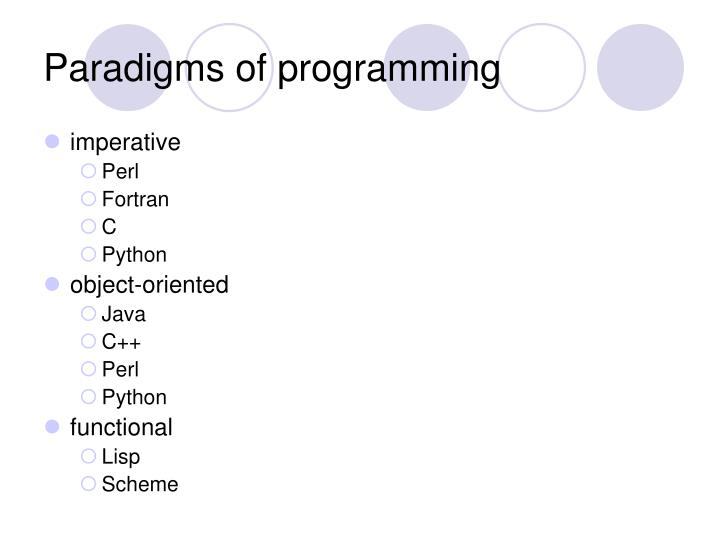 Paradigms of programming