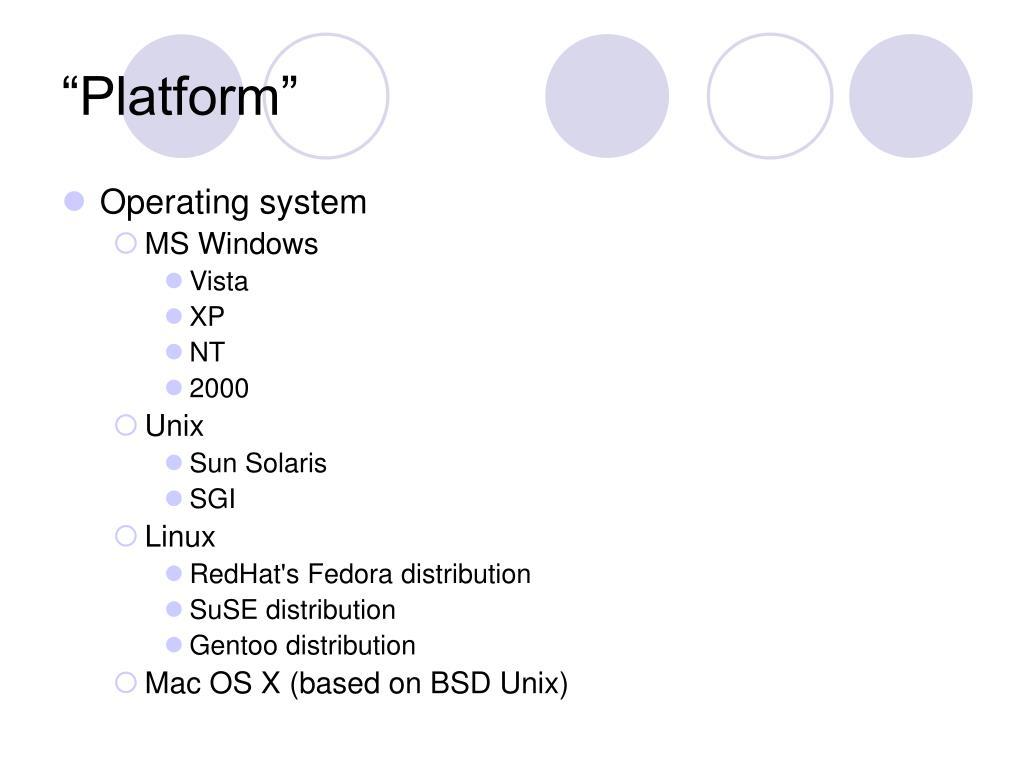 """""""Platform"""""""