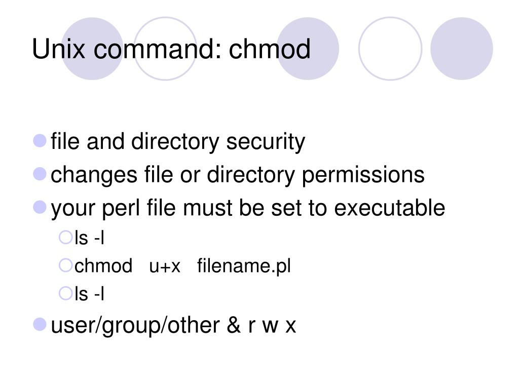 Unix command: chmod