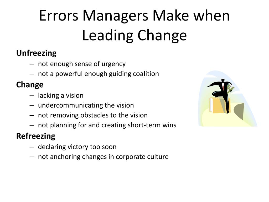 Errors Managers Make when Leading Change