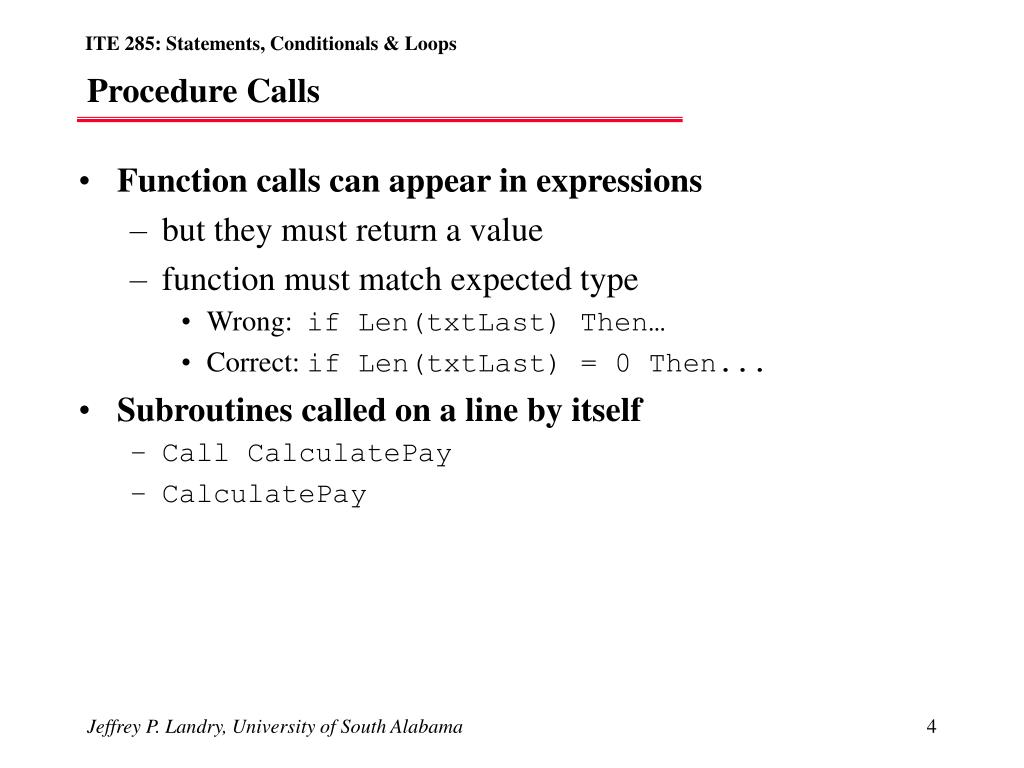 Function calls can appear in expressions