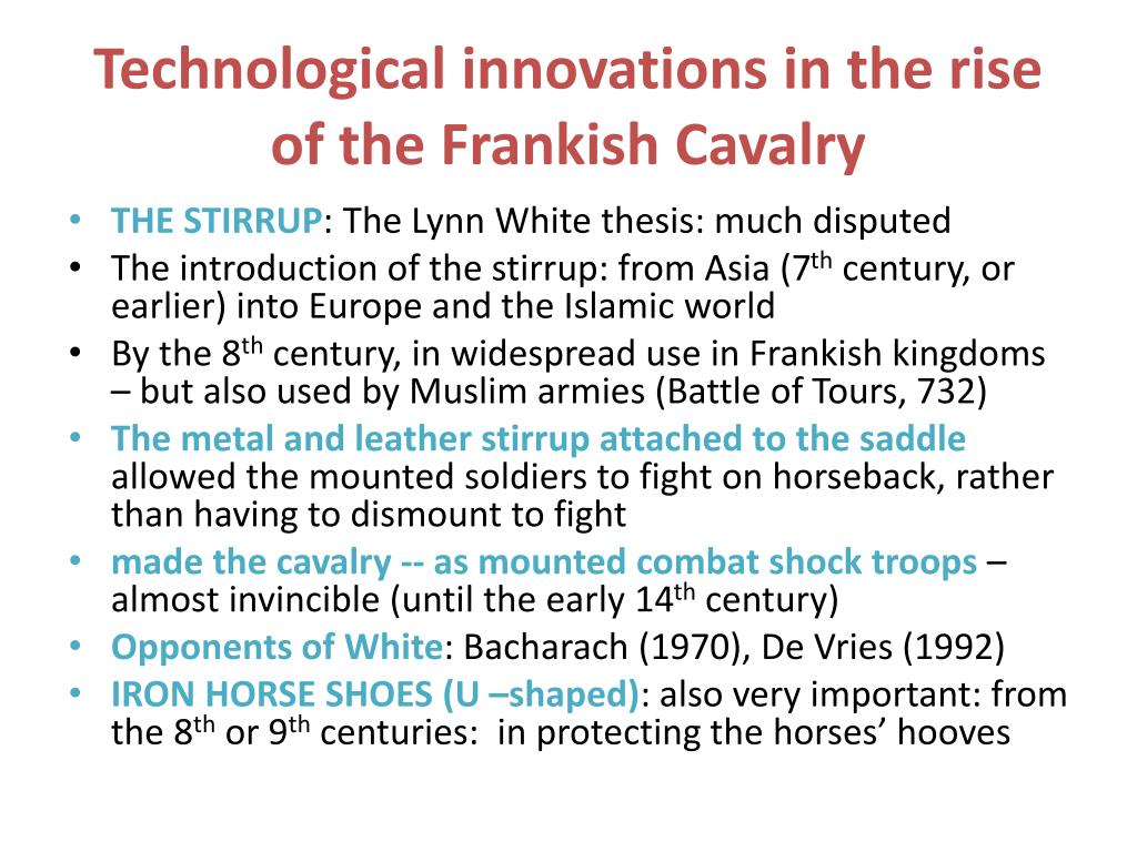 Technological innovations in the rise of the Frankish Cavalry