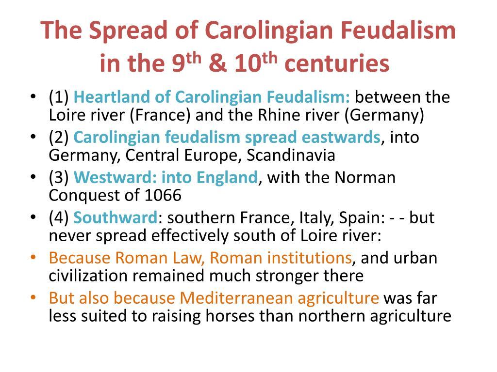 The Spread of Carolingian Feudalism