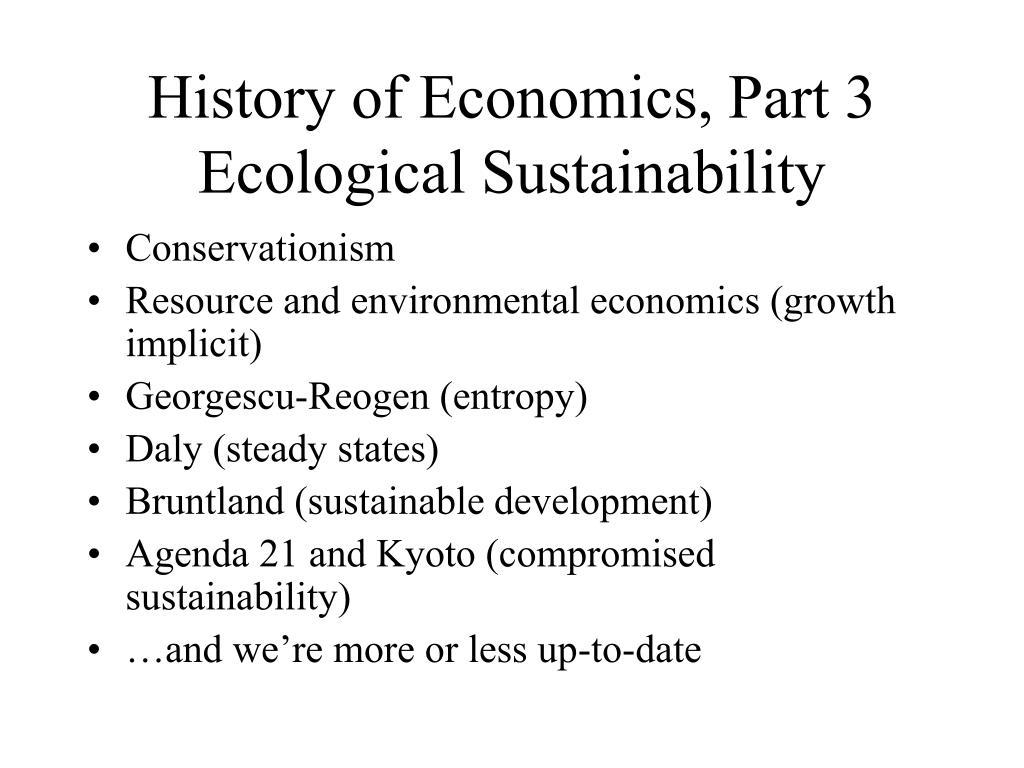 History of Economics, Part 3