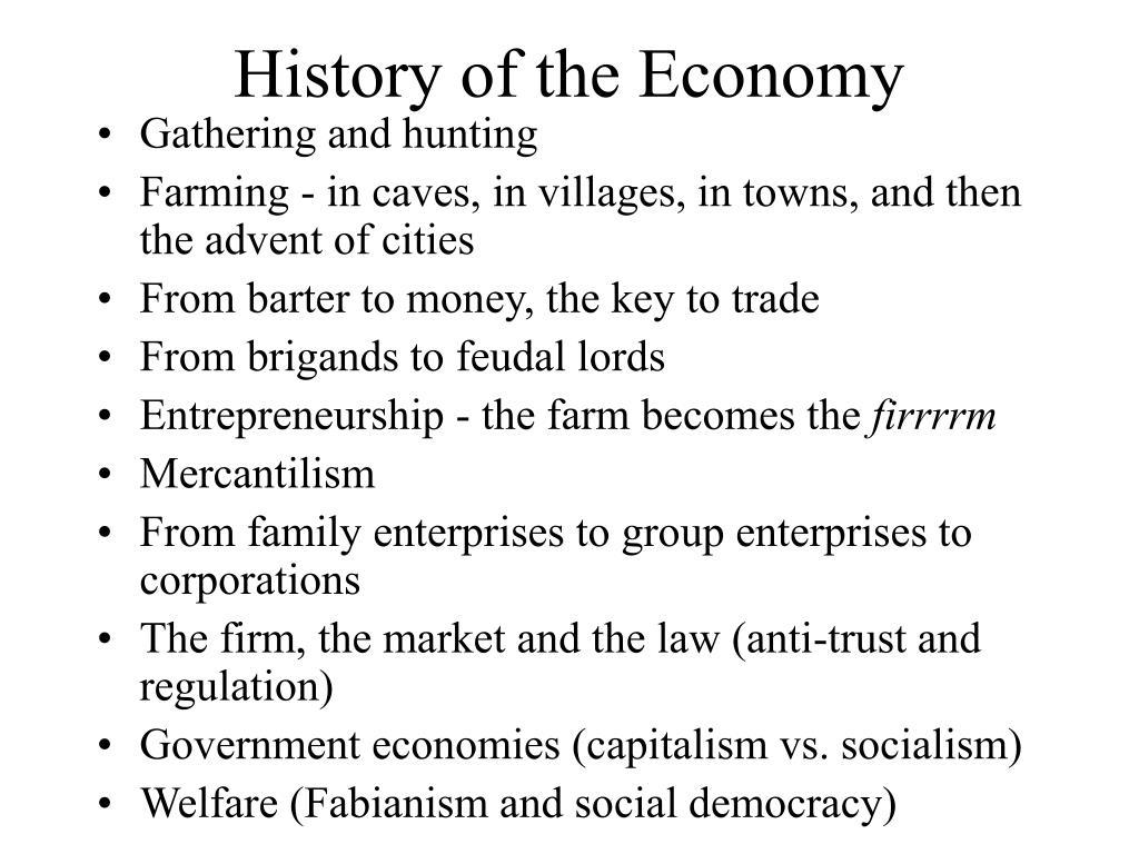 History of the Economy
