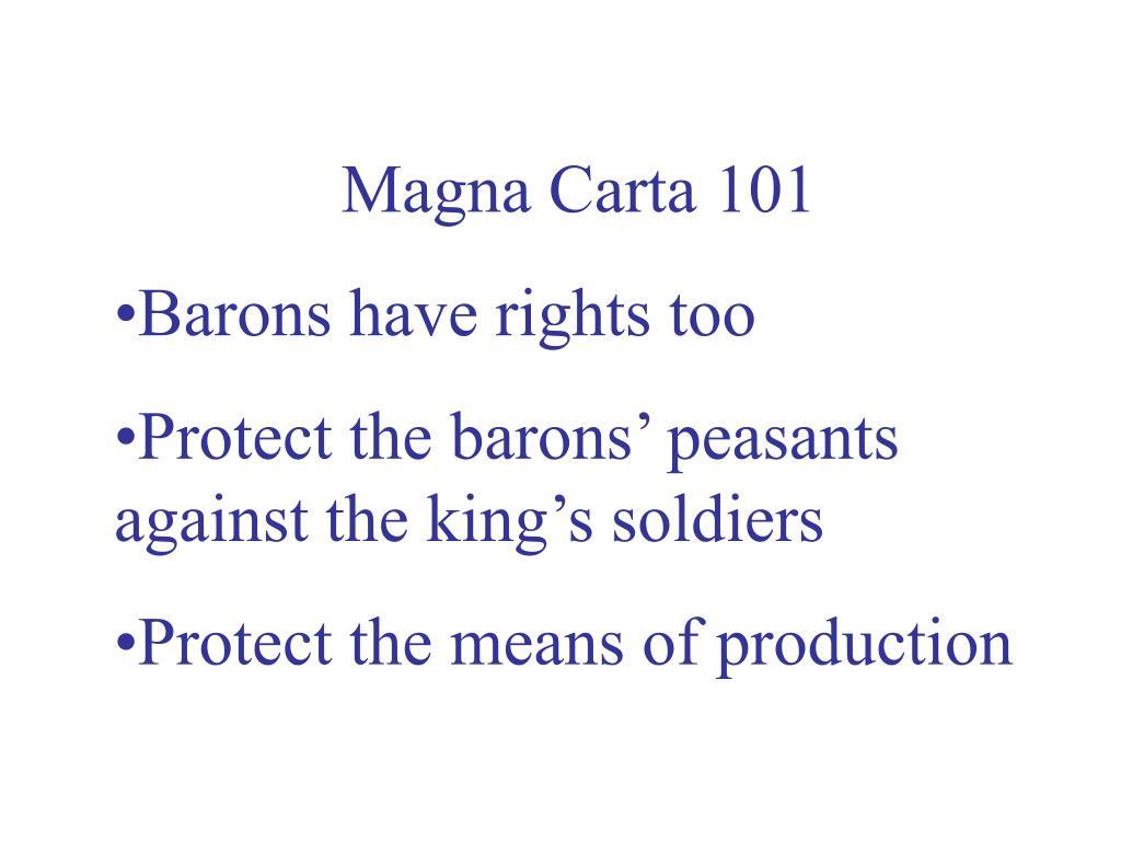 Magna Carta 101