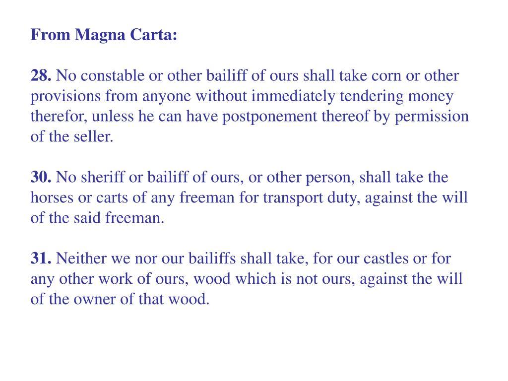 From Magna Carta: