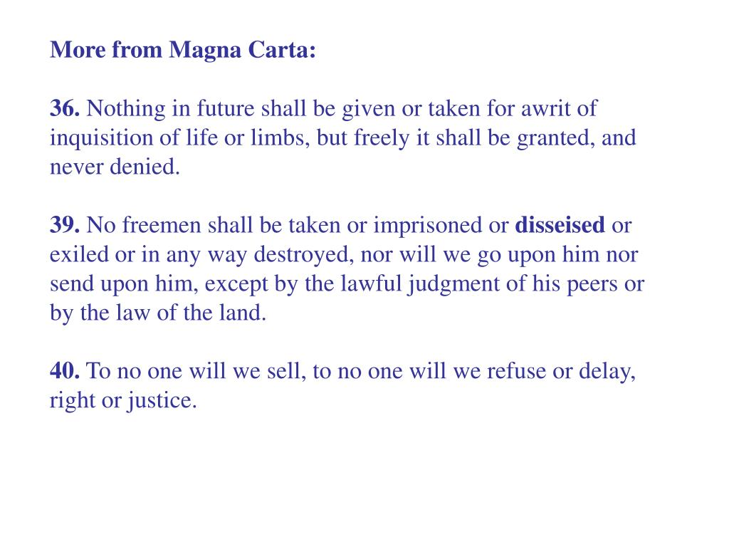 More from Magna Carta: