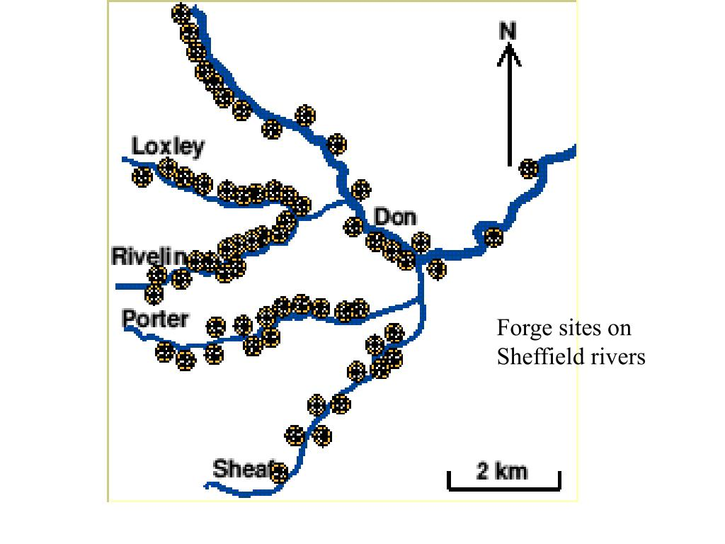 Forge sites on Sheffield rivers