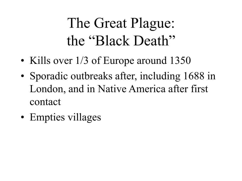 The Great Plague: