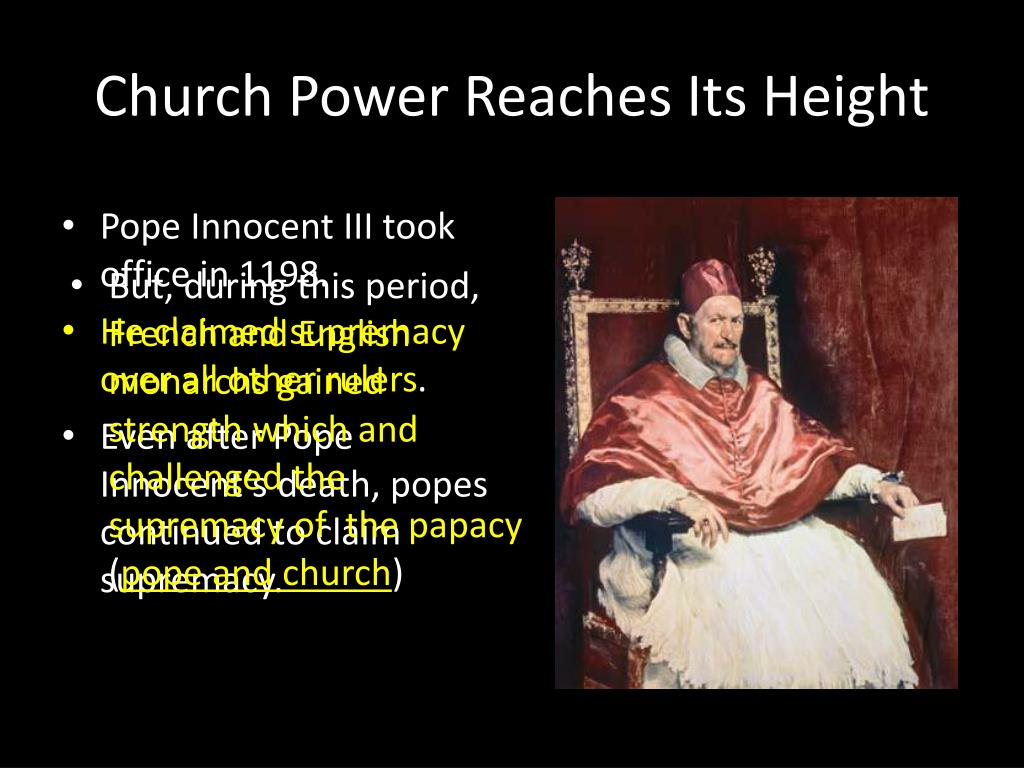 Church Power Reaches Its Height