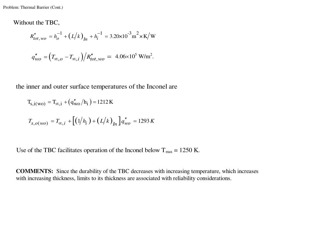 Problem: Thermal Barrier (Cont.)