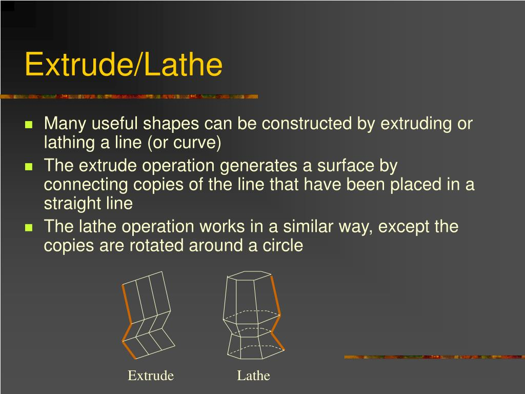 Extrude/Lathe