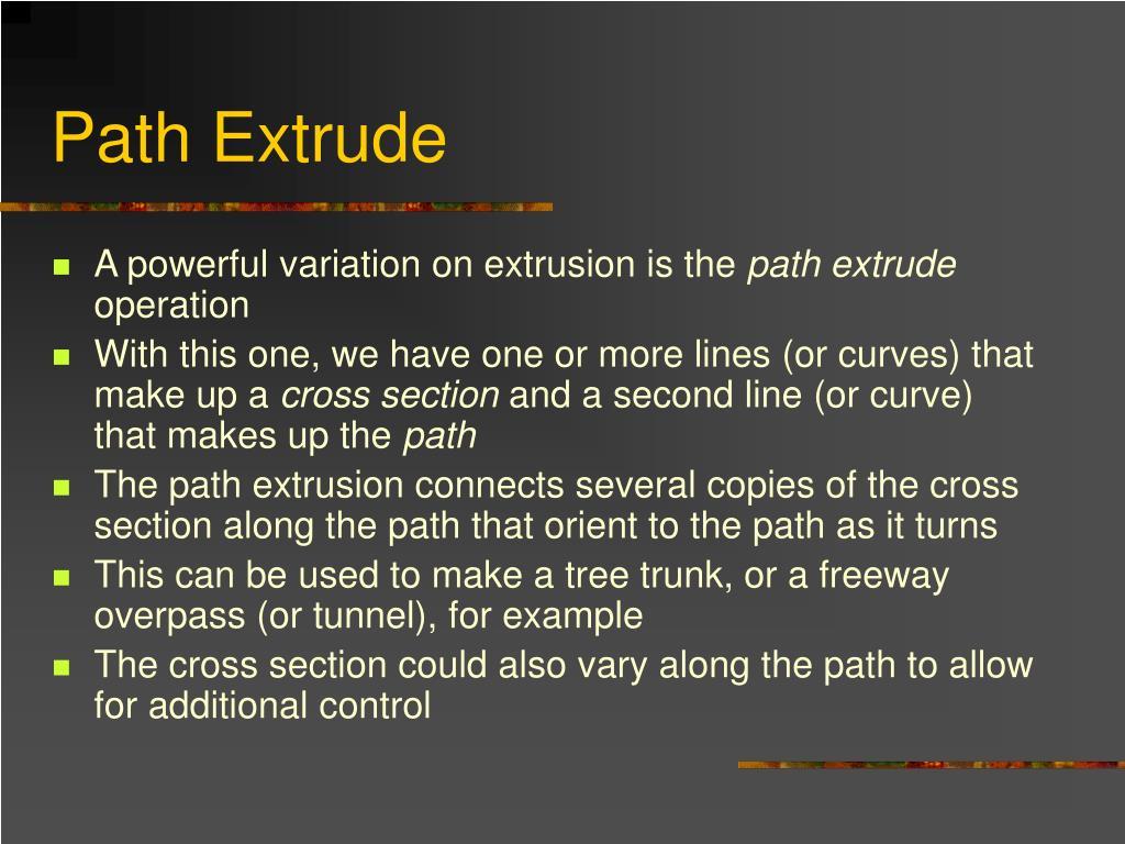 Path Extrude