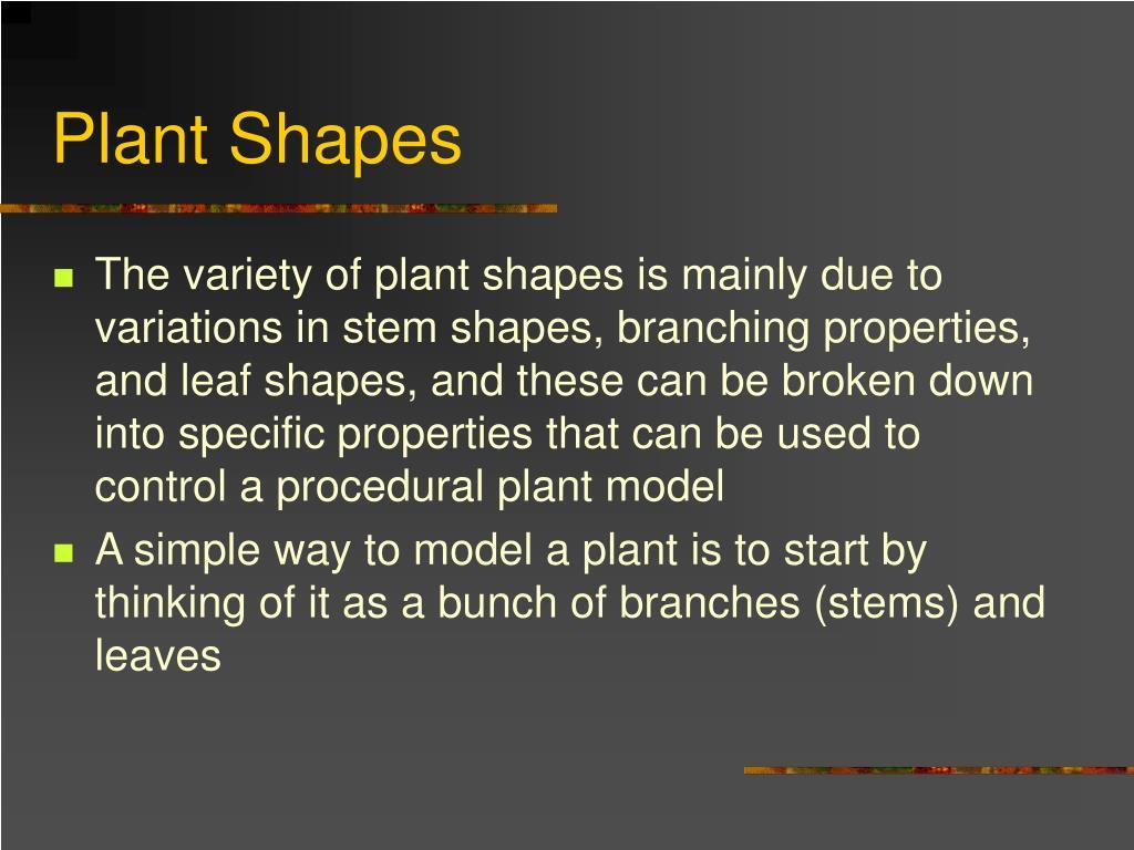 Plant Shapes