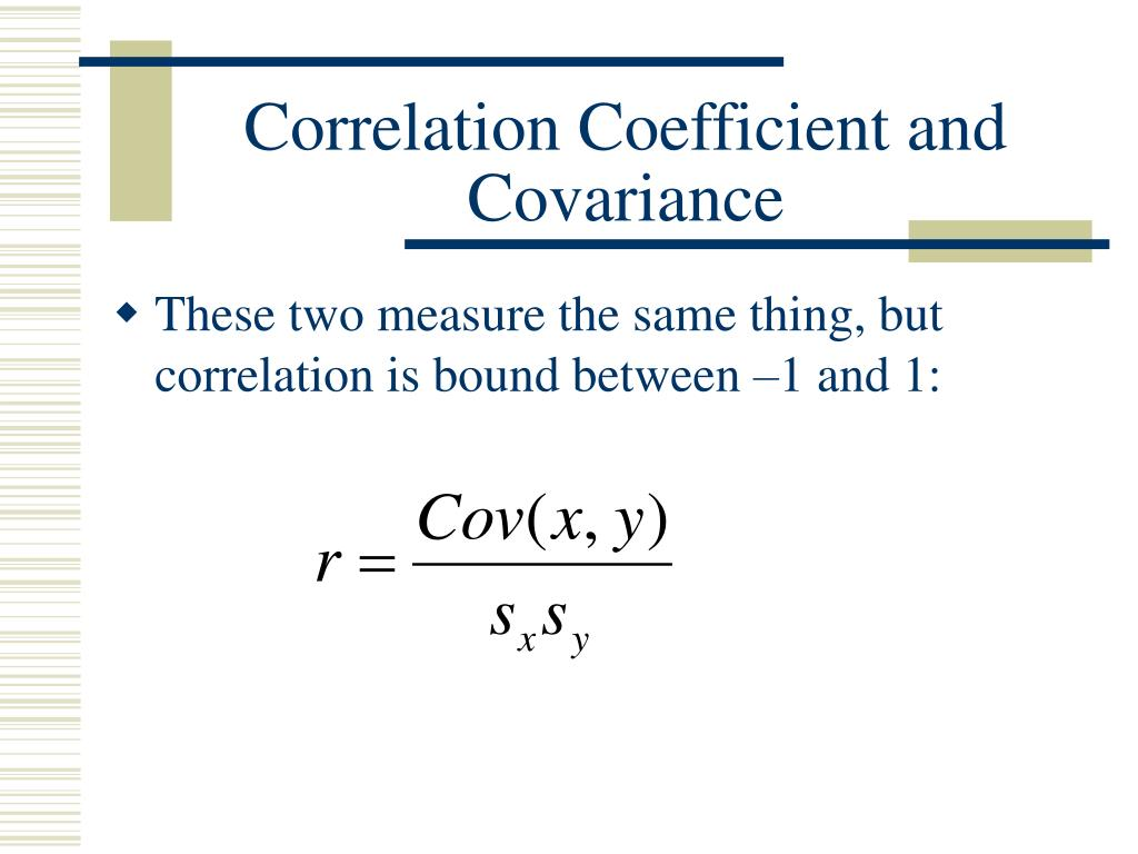 covariance and correlation relationship