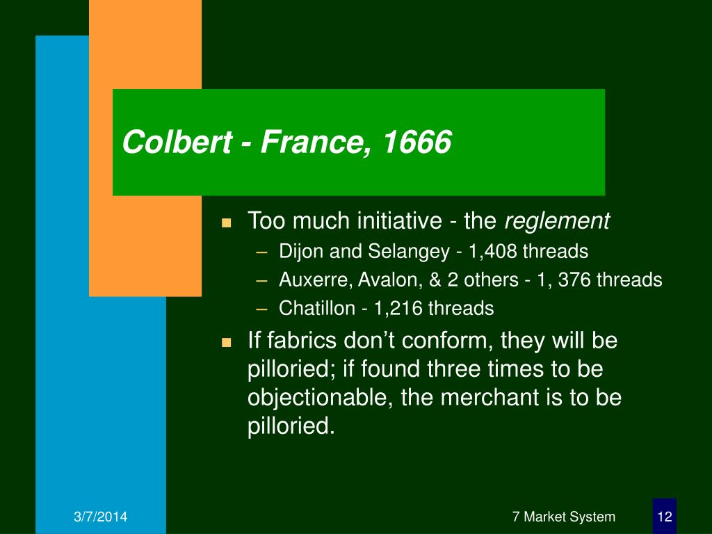 Colbert - France, 1666