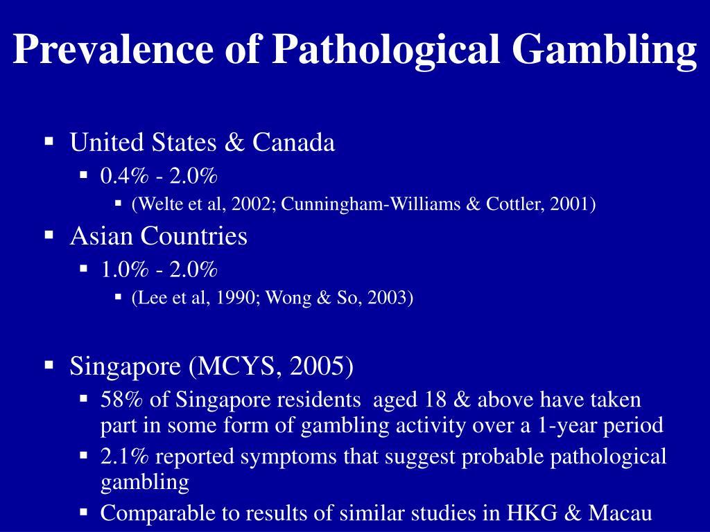 Prevalence of Pathological Gambling