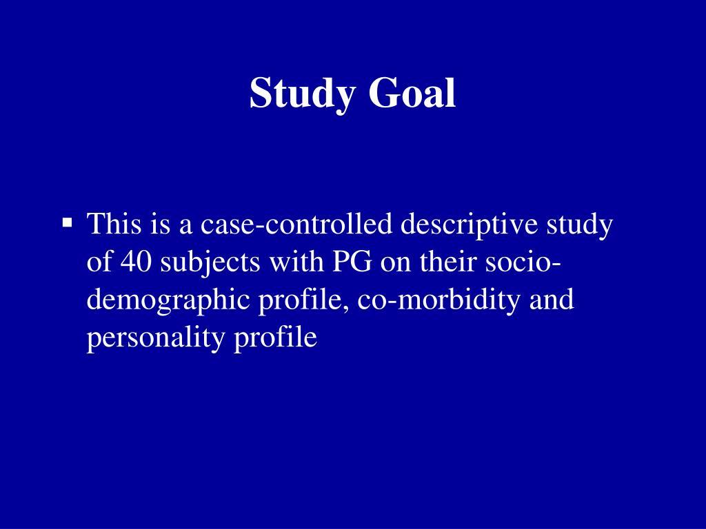Study Goal