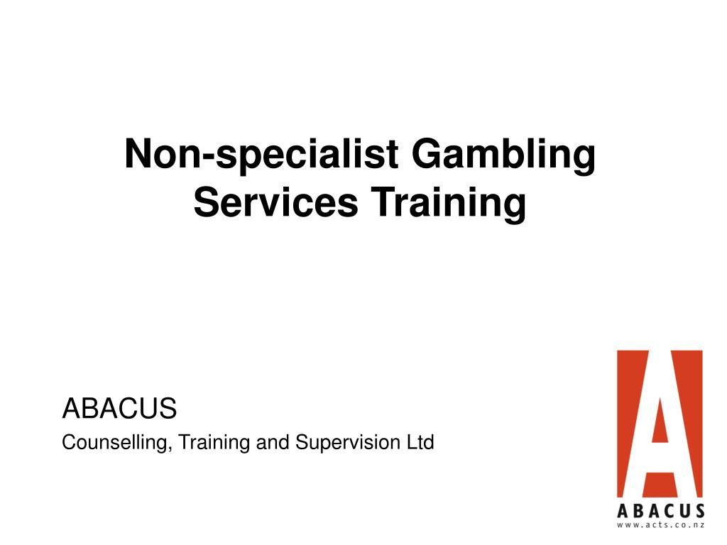 Non-specialist Gambling Services Training