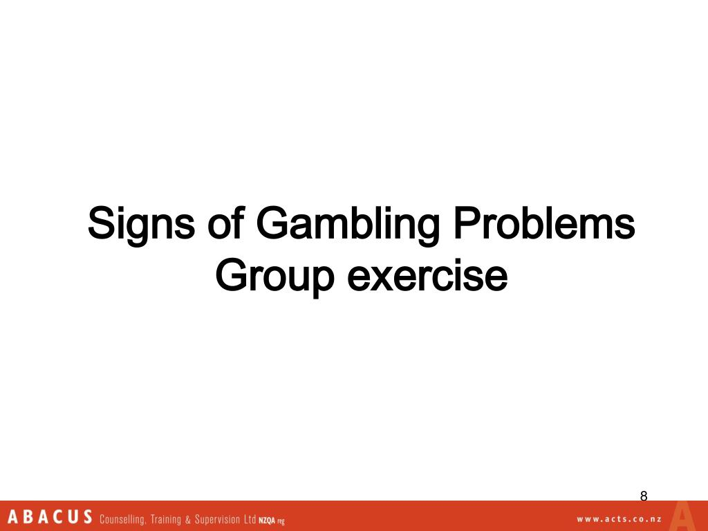Signs of Gambling Problems Group exercise