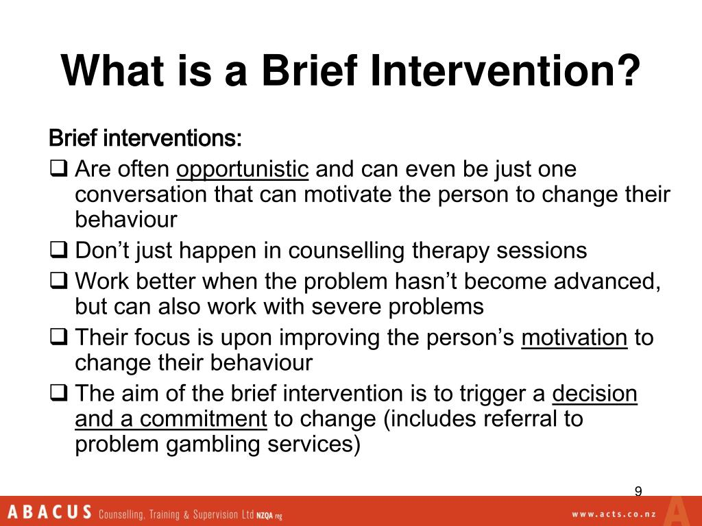What is a Brief Intervention?