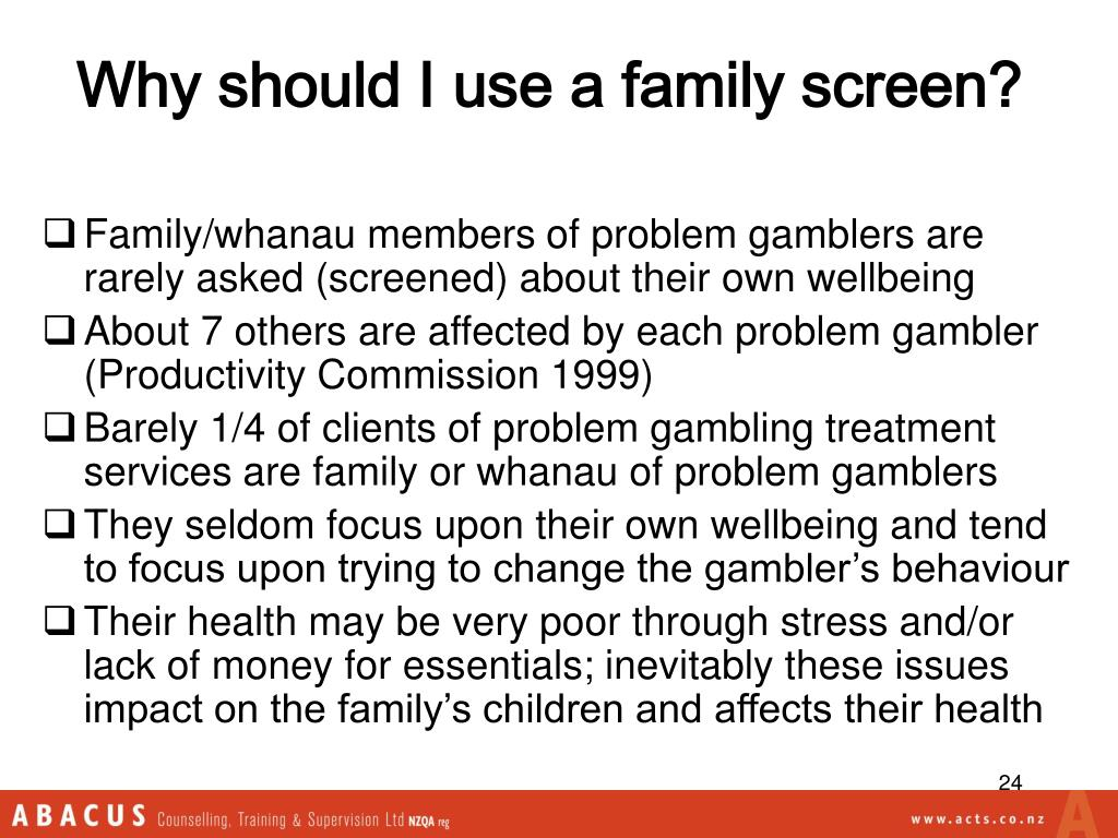 Why should I use a family screen?