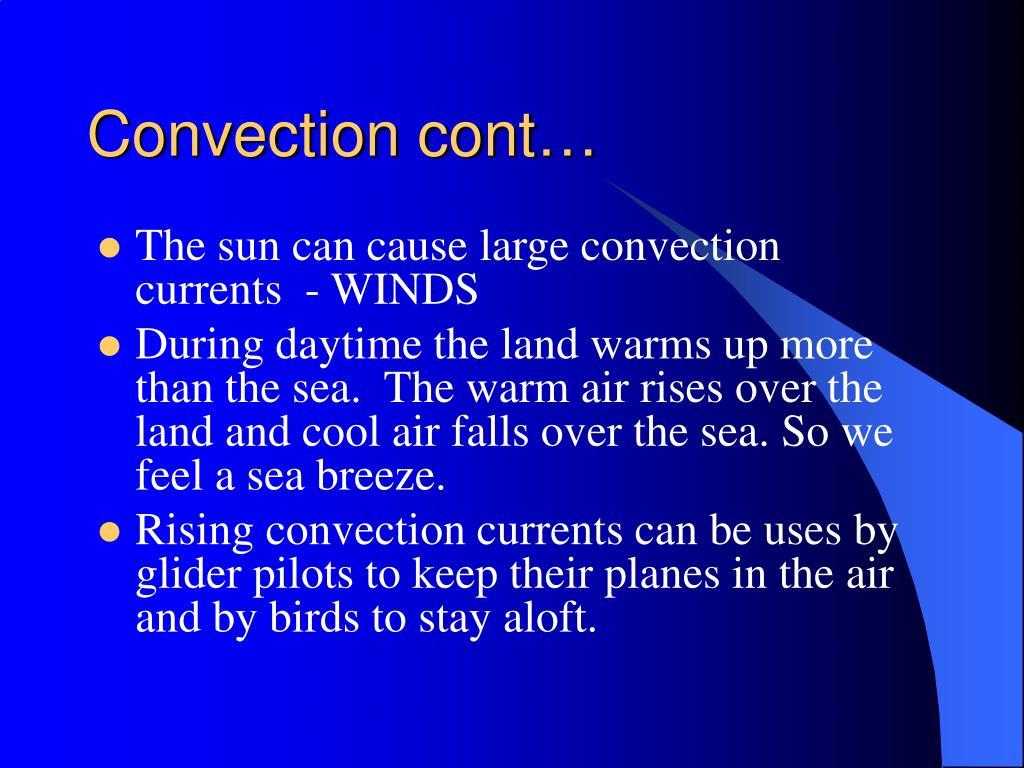 Convection cont…