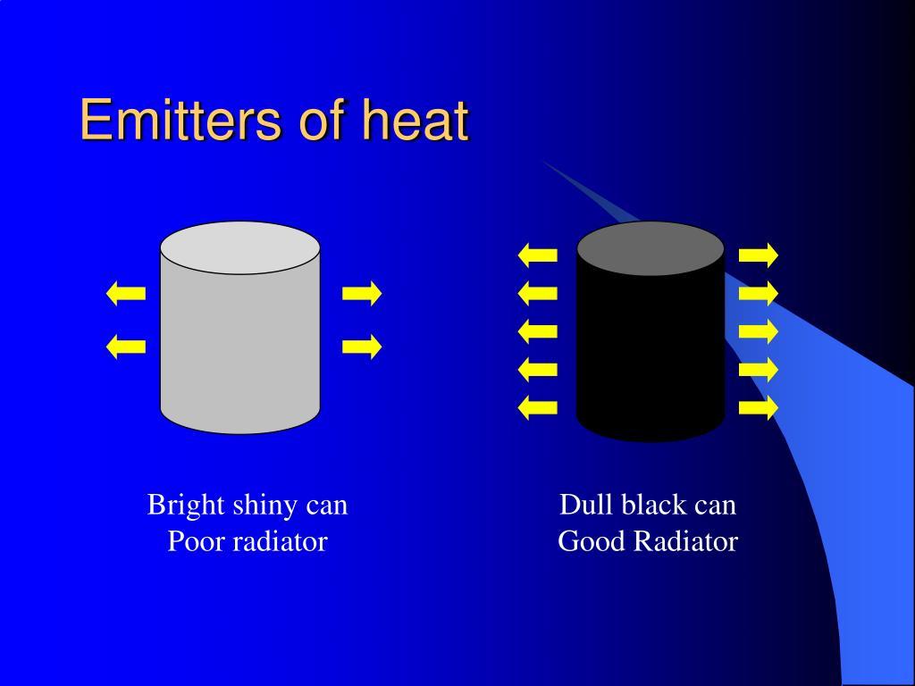 Emitters of heat